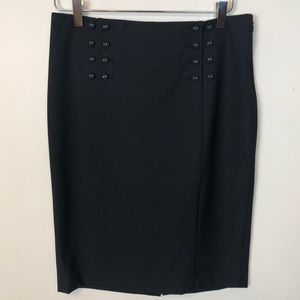 The Limited Button Pencil Skirt